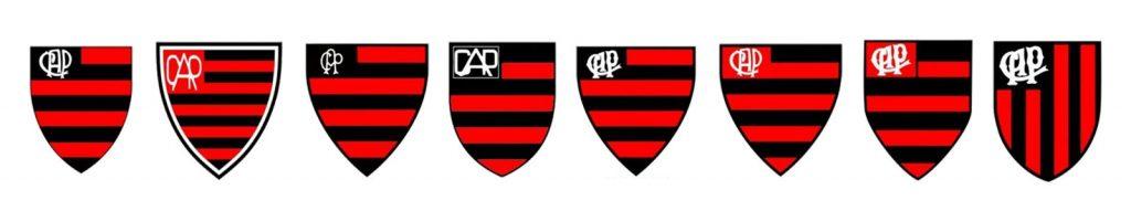 primeiros escudos do Clube Atlético Paranaense, hoje, Athletico.