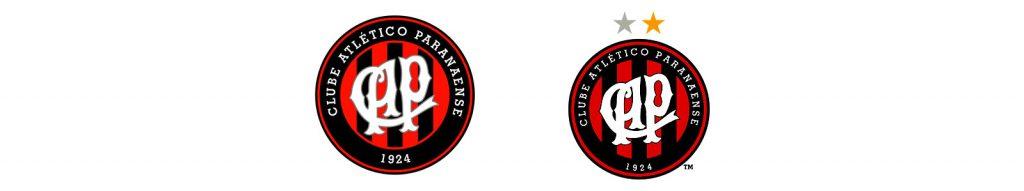 último escudo do Atlético-PR antes da mudança em 2018