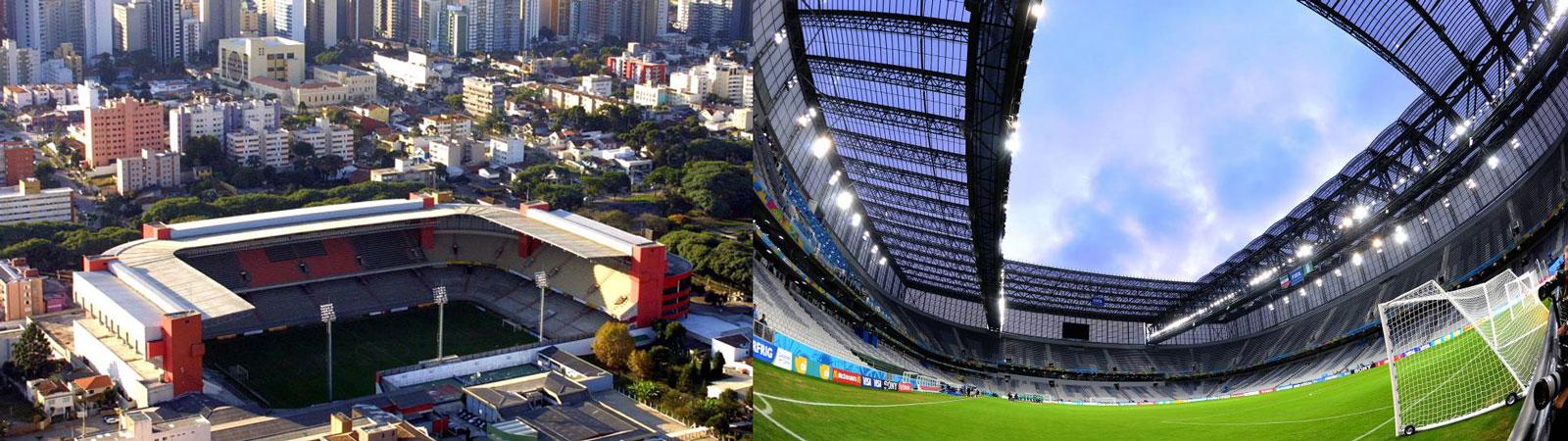 Estádio Joaquim Américo - Arena da Baixada, em suas duas fases (1999-2011 e pós-copa do mundo, 2014)