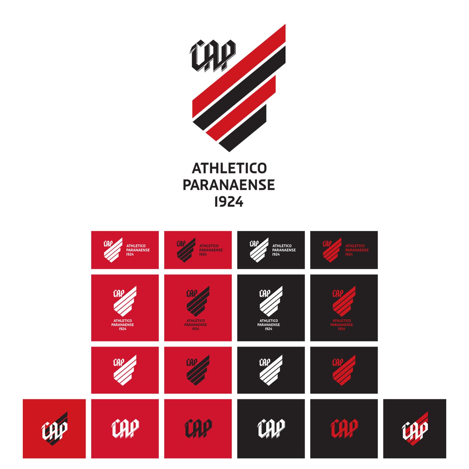Escudo / marca e variações de aplicação do Athletico-PR