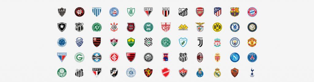 Grandes clubes brasileiros e mundiais e seus escudos