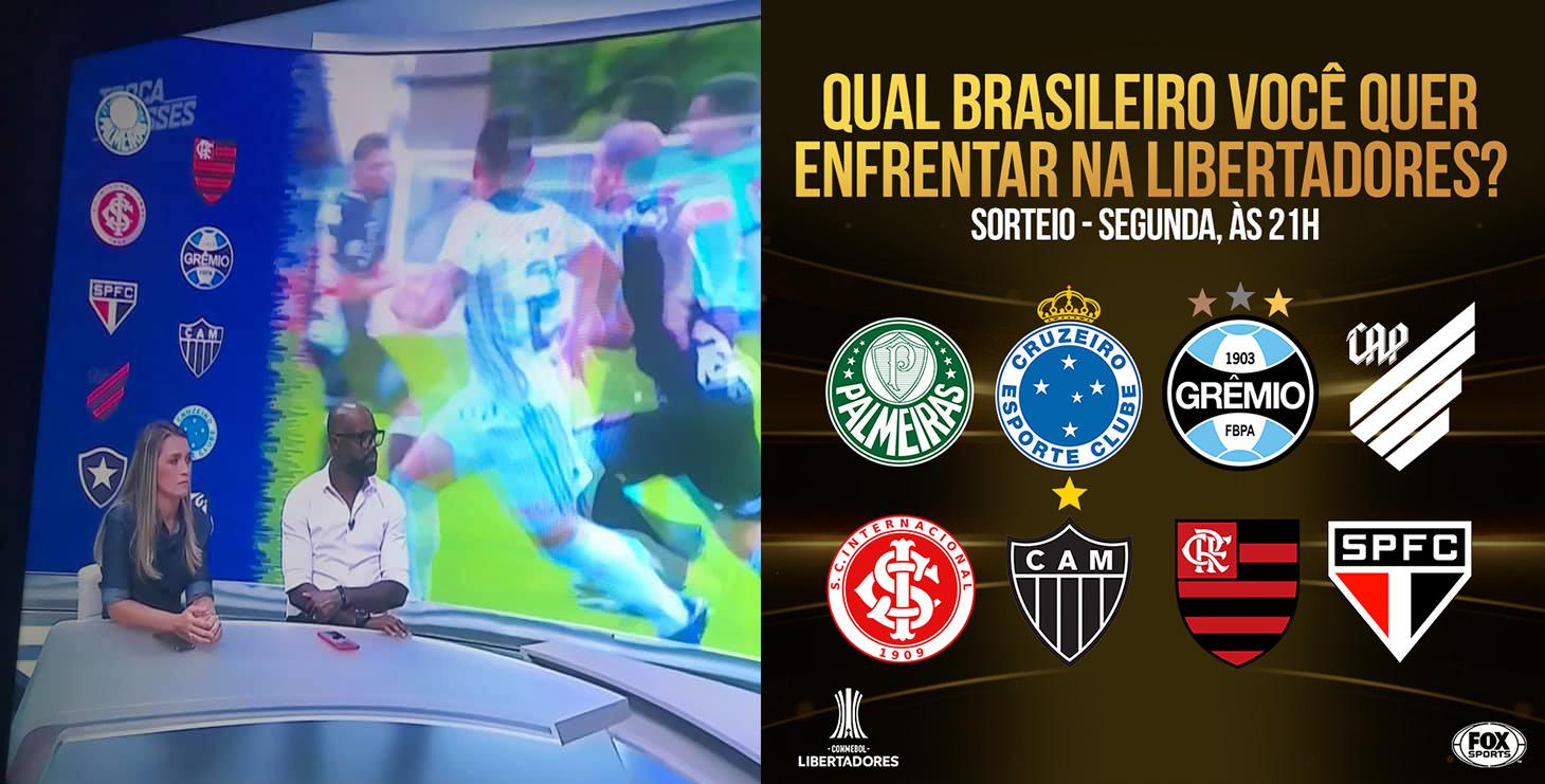 Aplicação da marca do Athletico em programas de tv.