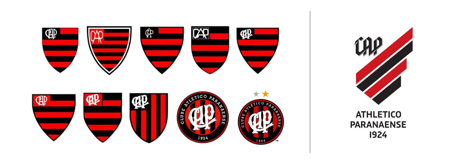 História dos escudos do Atlético Paranaense