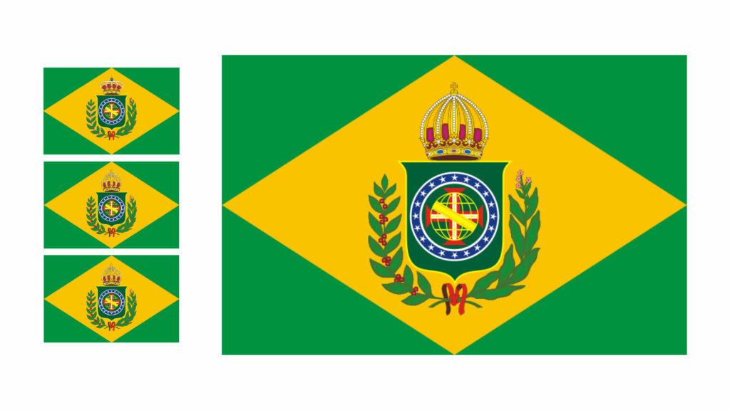 Antes de uma nova marca do governo federal, usavamos as bandeiras do Brasil império [1822-1889]