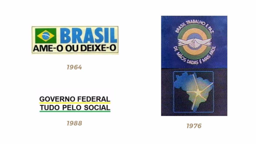 Marcas do governo federal entre o período republicano, até 1992